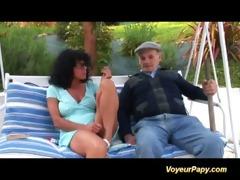bizarre ganbgang with voyeur papy