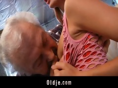 grandad fortunate to fuck a hot juvenile redhead