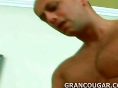 grancougar engulfs youthful meat with her old hole