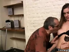 small dark brown coed goes naughty with her