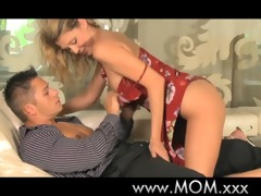 mamma slender milf makes love to younger man